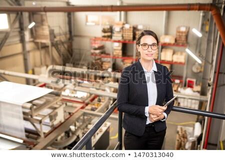 Jonge vrouwelijke ingenieur werken nieuwe technische Stockfoto © pressmaster