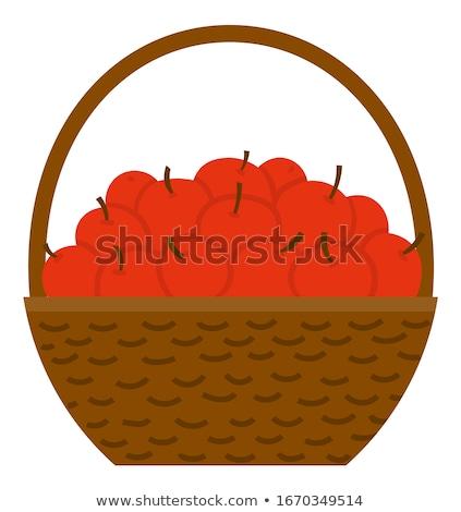 корзины яблоко фрукты плетеный вектора урожай Сток-фото © robuart
