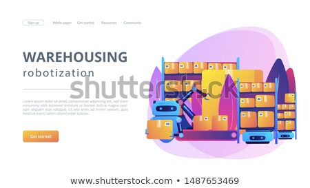 Warehousing robotization concept landing page Stock photo © RAStudio