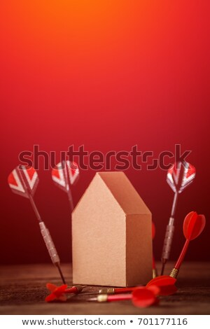 Houses And Red Darts Target Stock photo © AndreyPopov