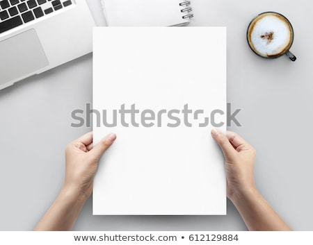 Office workplace table with blank a4 page Stock photo © karandaev