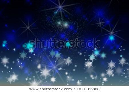 Natale capodanno blu lucido glitter Foto d'archivio © olehsvetiukha