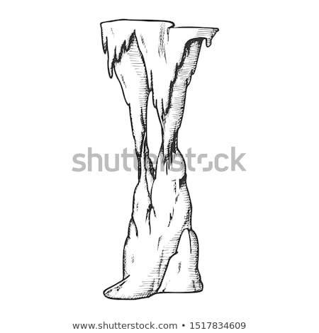 Stalactite Decorative Tunnel Element Ink Vector Stock photo © pikepicture