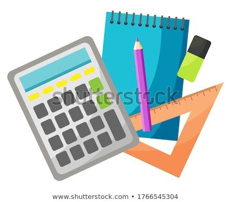 Righello matematica lezioni materiale scolastico primo piano isolato Foto d'archivio © robuart