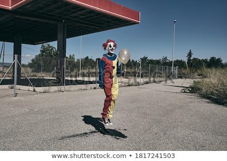 Scary клоуна шаре улице Сток-фото © nito