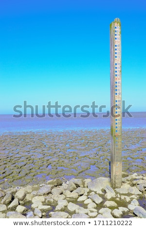 Water level gauge at natural area in the Netherlands.  Stock photo © Hofmeester