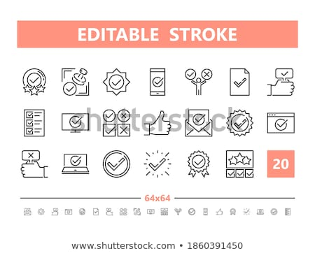 Approval stroke icons in business and marking vector image. Stock photo © Pixel_hunter