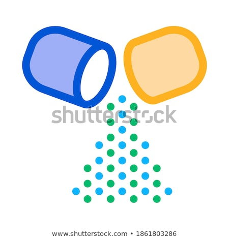 Kapsül içinde ikon vektör ince Stok fotoğraf © pikepicture