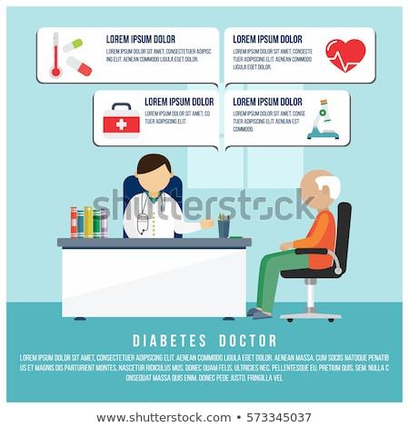 Diabetes médico lupa sangre glucosa pruebas Foto stock © RAStudio