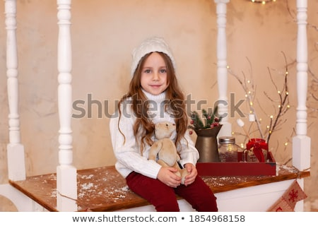 Dziecko dziewczyna lizak ręce ulicy denim Zdjęcia stock © ElenaBatkova