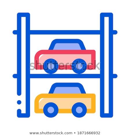 Parkeren icon vector schets illustratie teken Stockfoto © pikepicture