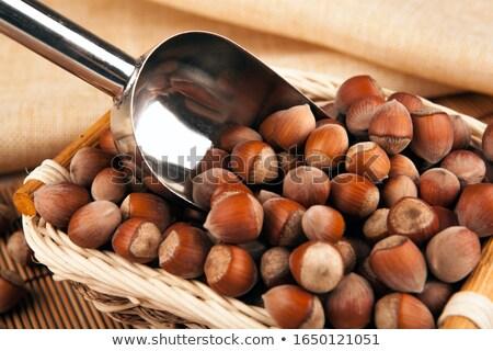 Inteiro avelã escavar cesta Foto stock © mizar_21984