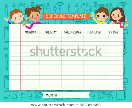 Times tables design with happy children Stock photo © bluering