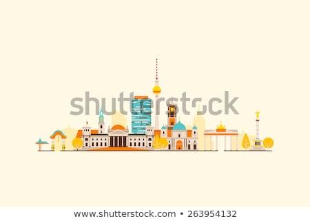 抽象的な ベルリン スカイライン 色 建物 ストックフォト © ShustrikS