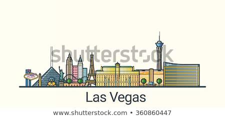 Las Vegas linha do horizonte cinza edifícios blue sky Foto stock © ShustrikS