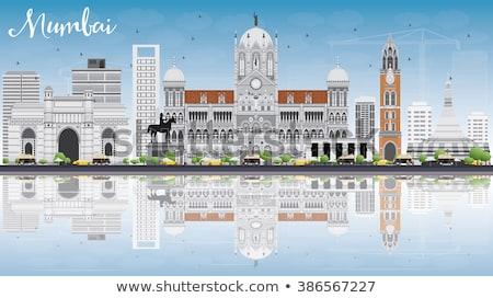 ムンバイ スカイライン グレー 青空 観光 ストックフォト © ShustrikS