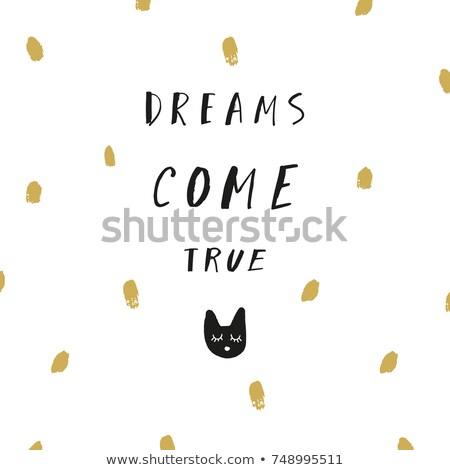 Art affiche rêves originale dessinés à la main Photo stock © barsrsind