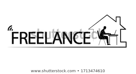 Veilig wifi signaal silhouet eenvoudige zwarte Stockfoto © evgeny89
