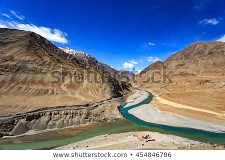 Folyók Himalája völgy égbolt felhők természet Stock fotó © dmitry_rukhlenko