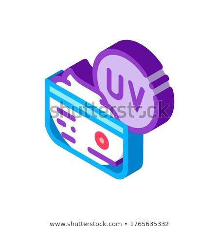 Uv creme isométrica ícone vetor assinar Foto stock © pikepicture