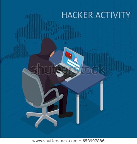 Kimlik hırsızlığı izometrik ikon vektör imzalamak renk Stok fotoğraf © pikepicture