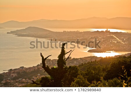 City of Split sunset panoramic view from above Stock photo © xbrchx