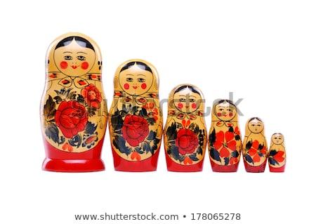 Ruso munecas grupo muneca blanco nina Foto stock © posterize