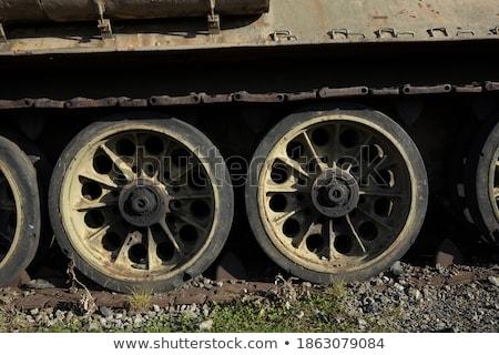 buldozer · tekerlekler · turuncu · yalıtılmış · beyaz · hareketli - stok fotoğraf © inxti