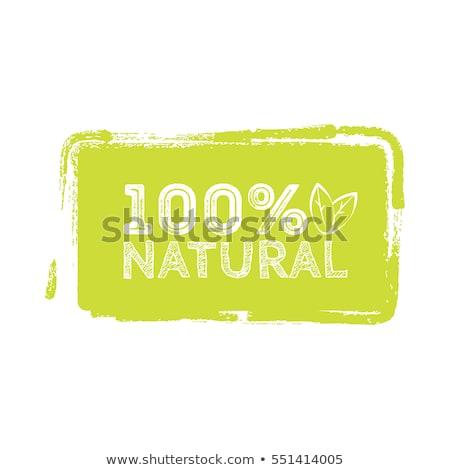 自然食品 · ラベル · タグ · ベクトル · リンゴ - ストックフォト © orson