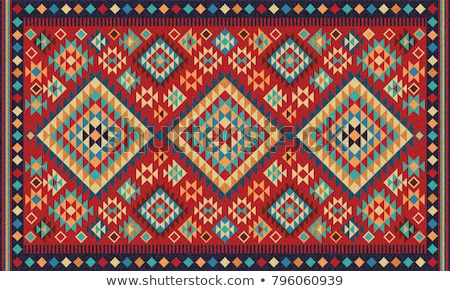 Stock photo: carpet with geometric ornament