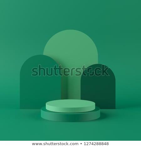 3D groene futuristische abstractie ontwerp gras Stockfoto © FransysMaslo