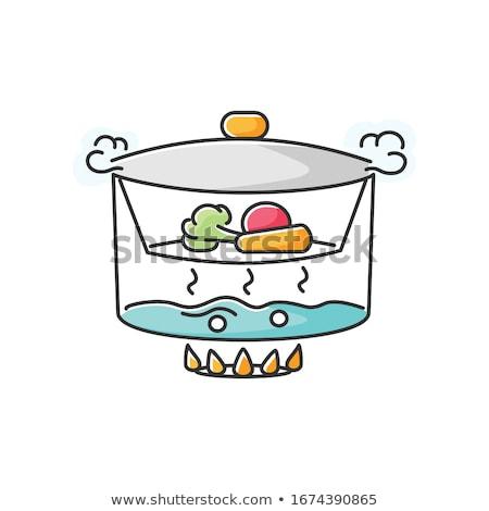 Kolorowy warzyw parowiec papryka bakłażan marchew Zdjęcia stock © simply