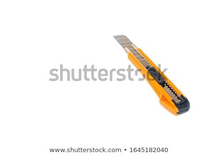 紙 ナイフ 背景 金属 オレンジ 色 ストックフォト © leeser