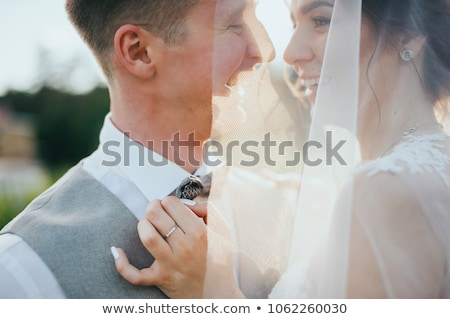 Attractive Wedding Couple Outdoors Stock photo © tobkatrina