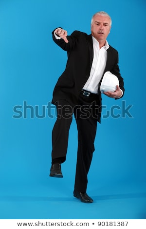 Architect walking an imaginary tightrope Stock photo © photography33