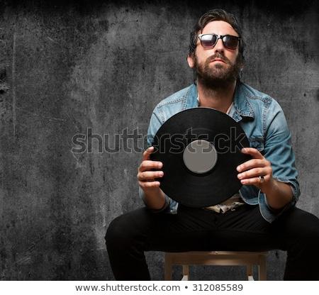 Stock photo: Rockstar playing solo