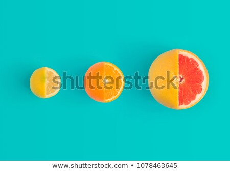 bbstract background of orange and lemon with green leaf stock photo © boroda