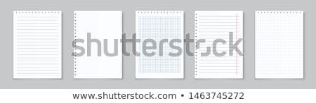 Biały notatka otwarte drewna biurko Zdjęcia stock © yoshiyayo
