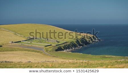 Landschap kerkhof gras natuur landschap zomer Stockfoto © prill