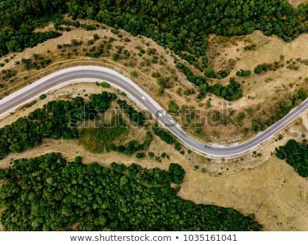 Paisagem rural estrada Espanha céu grama Foto stock © Pilgrimego