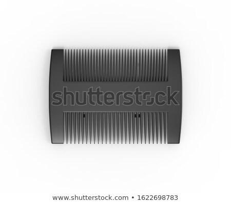 zwarte · kam · geïsoleerd · witte · haren · Blauw - stockfoto © ruslanomega