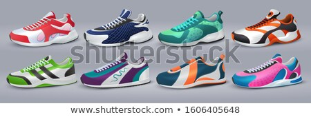 colorful shoes vector set stock photo © beaubelle
