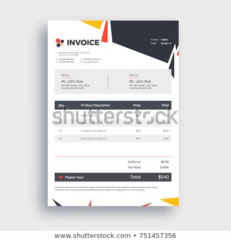 Blank invoice Stock photo © broker