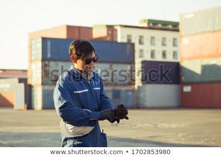 Indossare occhiali da sole Hat bianco strumento Foto d'archivio © photography33