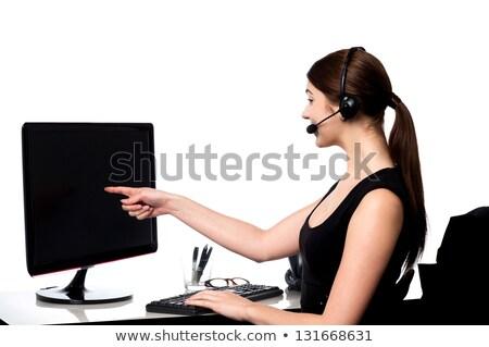 Business professionele wijzend wijsvinger vrouw hand Stockfoto © photography33