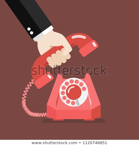 hanging phone receiver Stock photo © stevanovicigor
