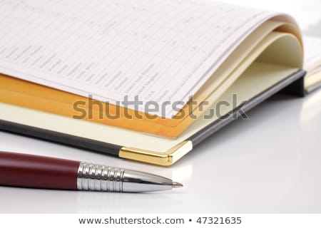 stylo · bureau · tous · les · jours · organisateur - photo stock © tatik22