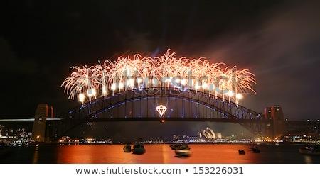 Happy New Year fireworks Australia landmark Stock photo © cienpies