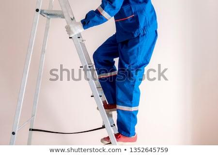 mecánico · azul · retrato · jóvenes - foto stock © photography33