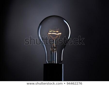 Stockfoto: Lamp · lichtblauw · transparant · gloeilamp · Blauw